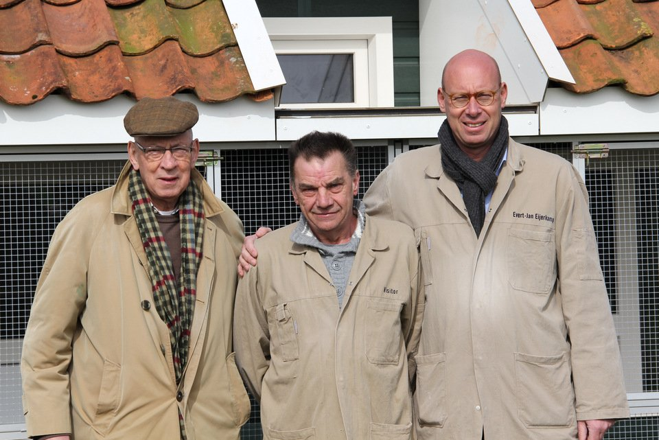 Albert Willems with Hans and Evert Jan