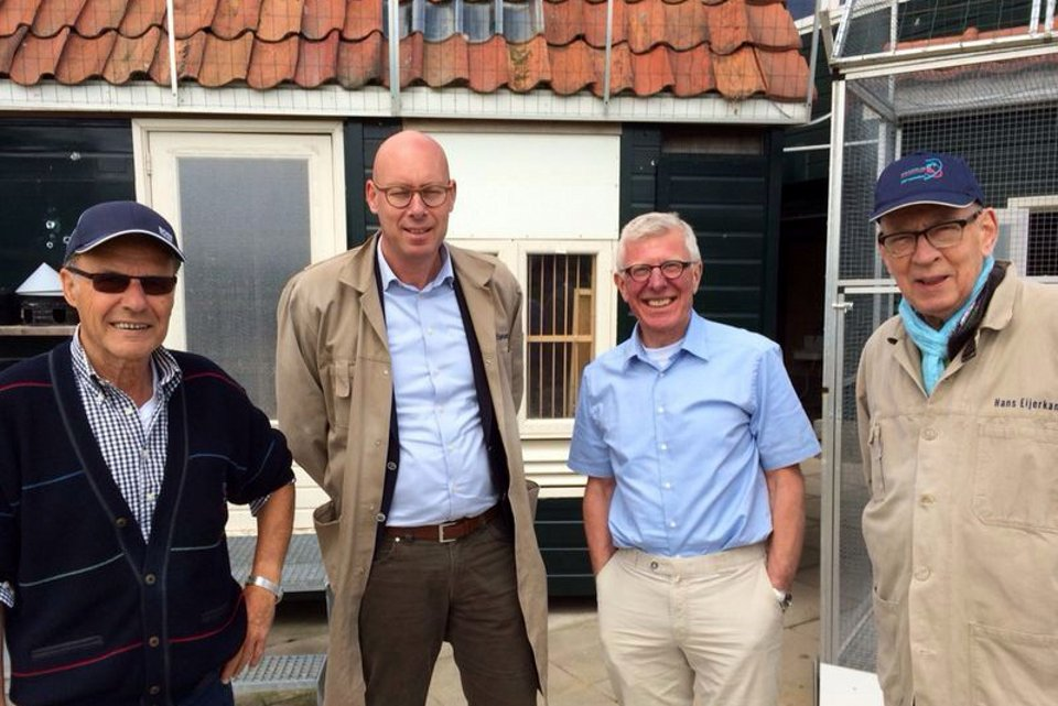 Ad Schaerlaeckens and Willem de Bruijn visiting us