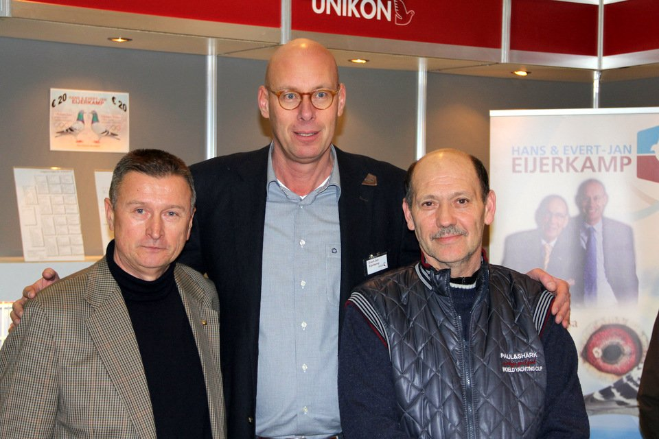 Evert-Jan with fanciers from the Ukraine