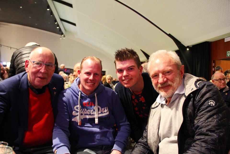 Gouden duif 2017: Hans Eijerkamp, Rutger van Lier, Rick Weustenenk, Leo Heremans