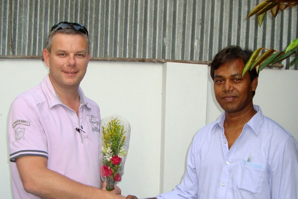 Henk Jurriëns visiting Mr Mostaq Ahmed