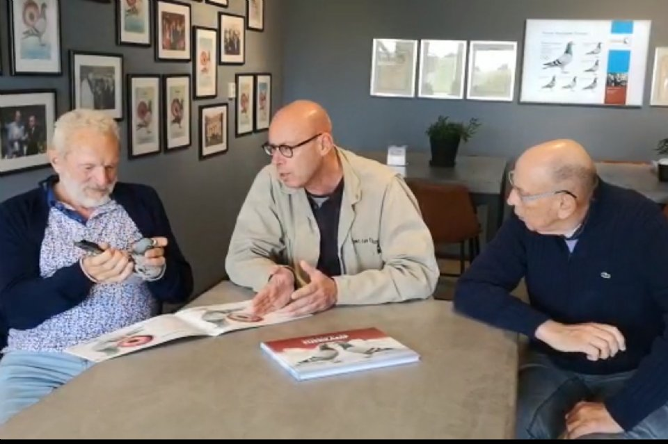 Leo Heremans visiting Hans and Evert Jan. View video